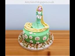 tangled cake topper step by step rapunzel cake topper