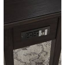 end table with outlet chair side end table w outlet usb chargers by signature design by