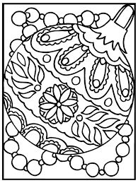 christmas ornament coloring pages coloringstar