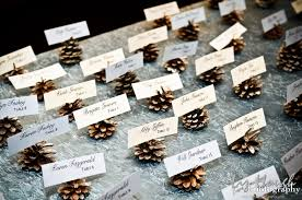 table decorations with pine cones pine cone wedding inspiration
