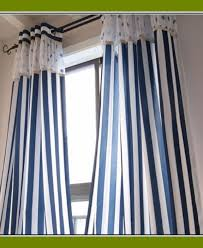Blue Ticking Curtains Cool Navy And White Striped Curtains For Your Cozy Interior Rooms
