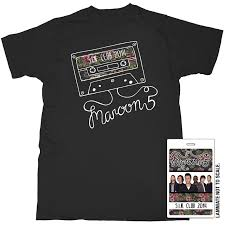 maroon 5 fan club just got this maroon 5 fan club tshirt and lanyard for free this