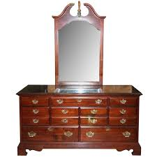bureau style colonial colonial revival style mahogany veneer bureau and mirror by