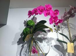 pink orchid silk flower arrangement classic hostess