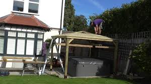 3m gazebo build with cedar roof in sutton youtube