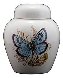 butterfly urn blue butterfly urn cremation urn or keepsake for