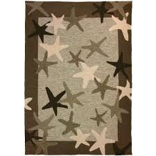 Outdoors Rugs by Shop Homefires Starfish Field Outdoor Rug 5x7 Homefires Rugs