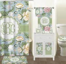 Retro Floral Curtains Vintage Floral Bathroom Accessories Set Ceramic Baby N Toddler
