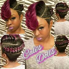 absolutely no hair out this quick weave is installed on a
