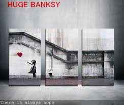 Painting Home Decor by Discount Canvas Only Large Banksy There Is Always Hope Modern Wall