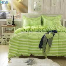 Green And White Duvet Spring And Autumn Cotton Bedding Sets Duvet Cover Bed Sheet