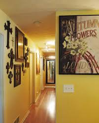 photos hgtv contemporary hallway with vibrant wall art arafen