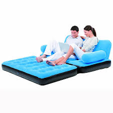 canapé lit gonflable canapé lit gonflable 4 en 1 bleu pompe incluse maison futée
