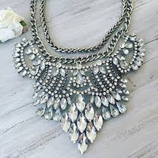 big necklace silver images Jewels cherry diva necklace statement necklace silver necklace jpg