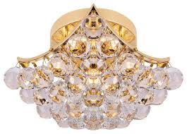 Crystal Flush Mount Ceiling Light Fixture by Contemporary 4 Light 8