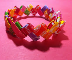how to make a bracelet out of candy wrappers 13 steps with