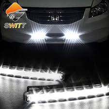 newest 2pcs car daytime running lights 8 led drl daylight kit