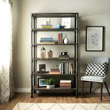Reclaimed Wood And Metal Bookcase Industrial Wood Shelving Units Making Industrial Bookshelves Wood