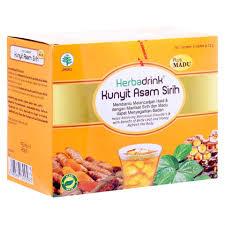 cara membuat jamu kunir asem sirih jual herbadrink kunyit asam sirih plus madu 5 sachets perawatan ms