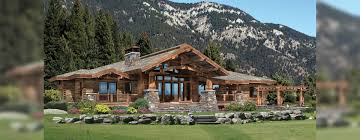 Ranch Style Log Home Floor Plans Timber Frame Porch Included On Some Plans Or Customize Your Home A