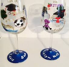 wine glass gifts painted graduation wine glasses graduation gifts clearly