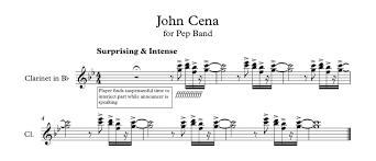 Clarinet Player Meme - john cena for clarinet imgur