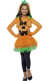 girls pumpkin fancy dress costume jack o lantern kids costume
