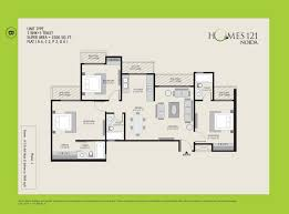 Floor Plans For 1500 Sq Ft Homes Homes 121 Floor Plan Sector 121 Noida