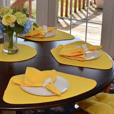 quilted placemats for round tables wedge placemats bright yellow quilted wedge shaped round table