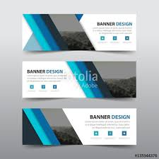 layout banner template blue triangle abstract corporate business banner template