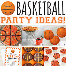 basketball party ideas slam dunk basketball party ideas chickabug