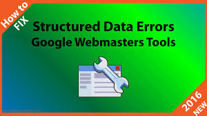 webmaster how to fix google structured data errors