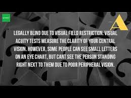 Blind Chart How Does A Legally Blind Person See Youtube