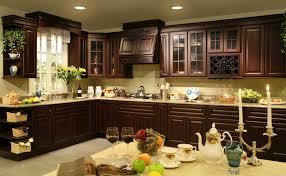Kitchen Splendid Kitchen Wall Cabinets Dark Cabinets Dark Cherry Cabinets Click A Picture For Larger