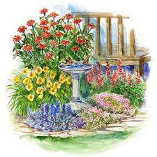 small space drought resistant garden plan
