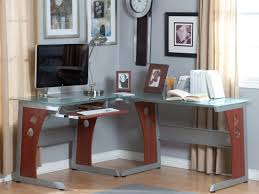 home office light wood corner desks for home office with hutch