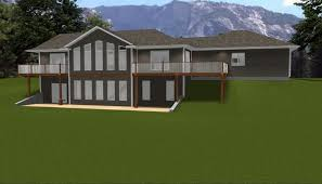 hillside home plans house plans walkout basement hillside luxamcc org