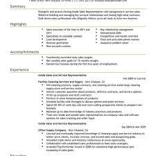 inside sales resume it sales resume