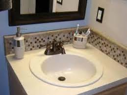 how to make a backsplash for a bathroom vanity home design ideas