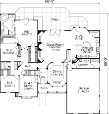 traditional house floor plans house plan 86993 at familyhomeplans com