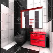 Pink And Black Bathroom Accessories by Red And Black Bathroom Sets Ceramics Flooring White Wooden Shelf