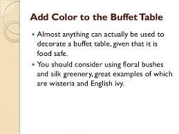 how to set up a buffet table how to set up an elegant buffet table