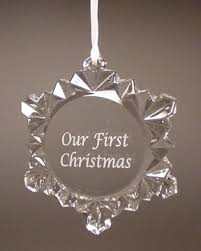 snowflake personalized engraved ornaments