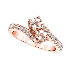 gold and morganite ring twogether two morganite ring in gold