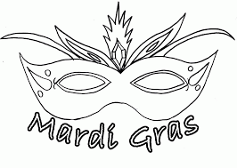 mardi gras masks coloring pages coloring