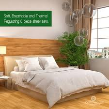 bamboo comforters with more ease bedding with style cosy house bamboo bed sheets with stripes set of 6