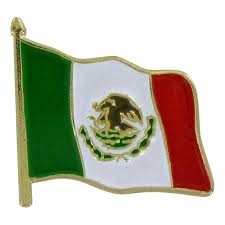 Mexixan Flag Waving Mexico Flag Lapel Pin