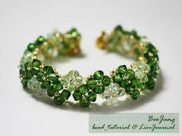 diy crystal bead bracelet images How to make beautiful four leaf clover beaded bracelet fab art diy jpg