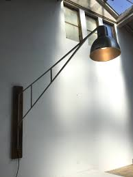 stunning large swiss industrial alumag belmag swing jib lamp for