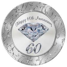 anniversary plates gorgeous diamond 60th anniversary plates zazzle